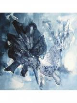 Indigo dunkel (110 x 110 cm)
